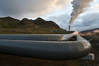 By Hellisheiðarvirkjun, Geothermal Power Plant, South Iceland.