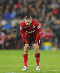 Cardiff City's Craig Bellamy - Photo mandatory by-line: Joe Meredith/JMP - Tel: Mobile: 07966 386802 03/11/2013 - SPORT - FOOTBALL - The Cardiff City Stadium - Cardiff - Cardiff City v Swansea City - Barclays Premier League