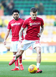 Jamie Paterson of Bristol City warms up - Mandatory by-line: Arron Gent/JMP - 23/02/2019 - FOOTBALL - Carrow Road - Norwich, England - Norwich City v Bristol City - Sky Bet Championship