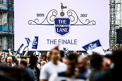 Spurs fans take to the pitch at full time after the final game at the White Hart Lane before it's closure for demolition and redevelopment - Rogan Thomson/JMP - 14/05/2017 - FOOTBALL - White Hart Lane - London, England - Tottenham Hotspur v Manchester United - Premier League.