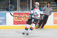 KELOWNA, CANADA - JANUARY 3: Cole Linaker #26 of Kelowna Rockets skates against the Prince George Cougars on January 3, 2015 at Prospera Place in Kelowna, British Columbia, Canada.  (Photo by Marissa Baecker/Shoot the Breeze)  *** Local Caption *** Cole Linaker;