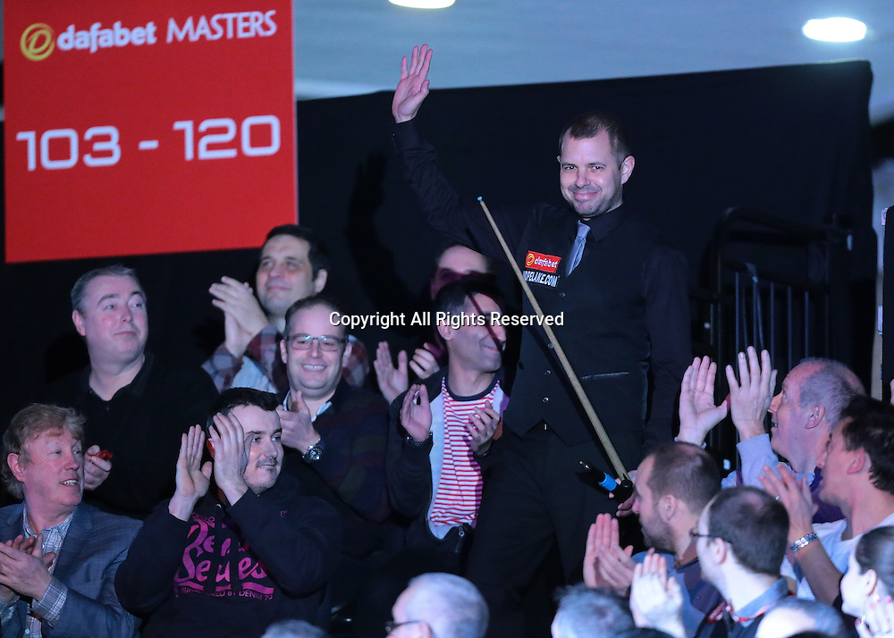 16.01.2016.  Alexandra Palace, London, England. Masters Snooker. Semi Finals. Barry Hawkins enters the arena for the start of his Semi Final against Judd Trump