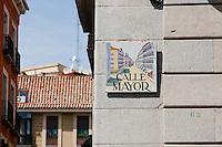 street signs in madrid, spain