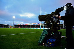 BT Sport Camera with Cameraman operator - Mandatory by-line: Ryan Hiscott/JMP - 29/12/2019 - RUGBY - Sandy Park - Exeter, England - Exeter Chiefs v Saracens - Gallagher Premiership Rugby