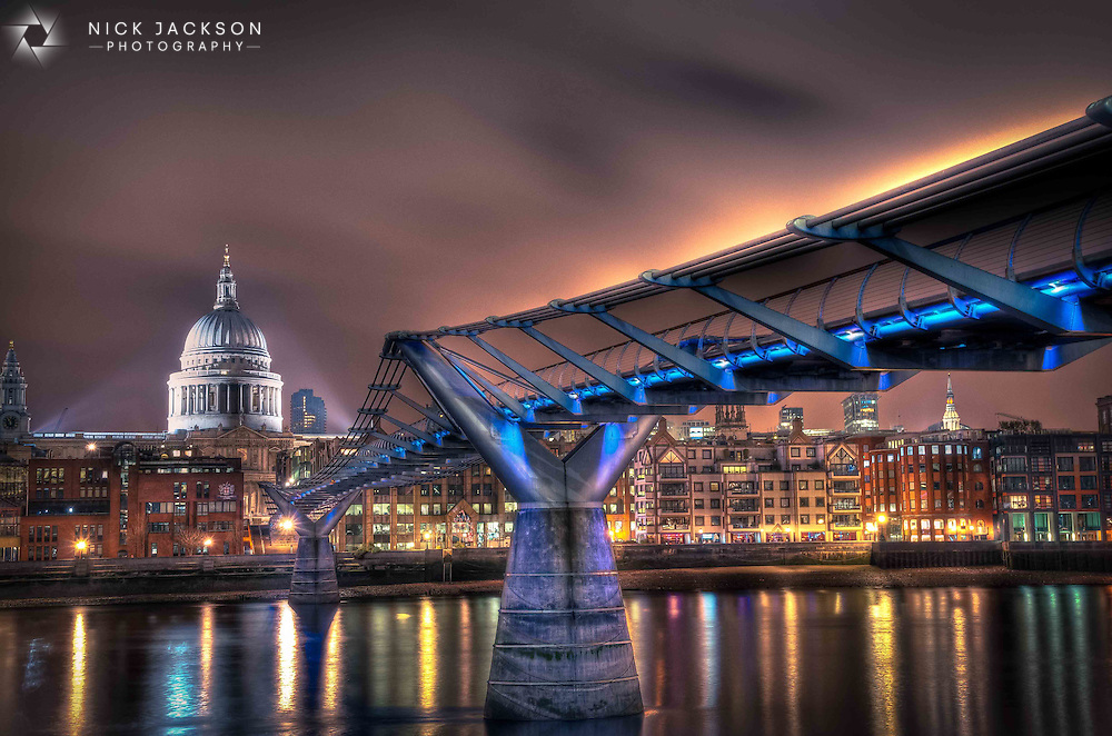 "The juxtaposition of historic monument against new ""blade of light"" Millennium Bridge is what I enjoy about this scene. It sums up London for me with a respected and loved history surrounded by an ever expanding and fast-moving city."