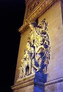 La Paix de 1815 bas relief by Antoine Etex, facing the l'Avenue de la Grande-Armée. Arche de La triomphe (Arc de Triomphe), Paris, France
