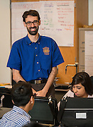Vladimir Lopez teaches Physics at East Early College High School, April 27, 2015.