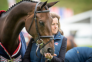 Pippa Funnell (GBR) & Sandman 7 - First Horse Inspection - Longines FEI European Eventing Championships - Blair Castle, Scotland - 09 September 2015