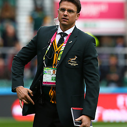 LONDON, ENGLAND - OCTOBER 17: Pieter Kruger during the Rugby World Cup Quarter Final match between South Africa and Wales at Twickenham Stadium on October 17, 2015 in London, England. (Photo by Steve Haag/Gallo Images)