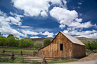 The Gifford Homestead Barn in Fruita Valley, Capitol Reef National Park, Utah