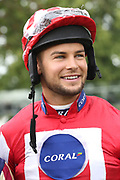 Love Island Celebrity CHRIS HUGHES taking part in the The Best Western Hotels & Macmillan Ride of their Lives Charity Race over 1m 1f during the Macmillan Charity Raceday at York Racecourse, York, United Kingdom on 16 June 2018. Picture by Mick Atkins.