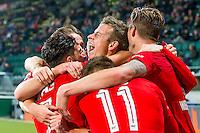 DEN HAAG - 30-10-2016, ADO Den Haag - AZ , Kyocera Stadion, 0-1, AZ speler Robert Muhren juicht nadat hij de 0-1 heeft gescoord.