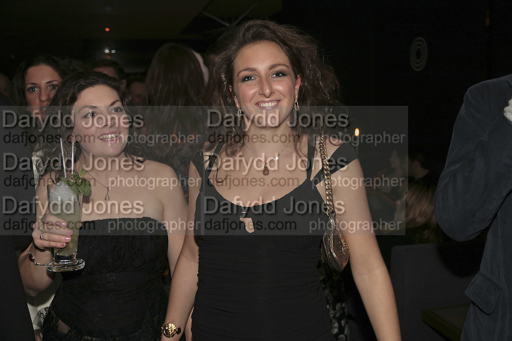 JOY HARRISON AND NATASHA CORRETT, THREE'S A CROWD EVENTS LAUNCHES, THE MAYFAIR HOTEL BAR, STATTON ST. LONDON.<br />5 December 2006. ONE TIME USE ONLY - DO NOT ARCHIVE  &copy; Copyright Photograph by Dafydd Jones 248 CLAPHAM PARK RD. LONDON SW90PZ.  Tel 020 7733 0108 www.dafjones.com