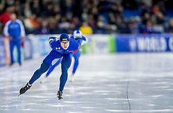 10-12-2016 NED: ISU World Cup Speed Skating, Heerenveen<br /> 1500 m men / Joey Mantia USA
