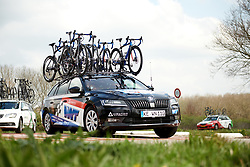 WNT Rotor Pro Cycling team car at Healthy Ageing Tour 2019 - Stage 5, a 124.3 km road race in Midwolda, Netherlands on April 14, 2019. Photo by Sean Robinson/velofocus.com