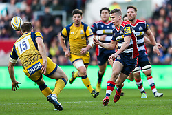 Billy Searle of Bristol Rugby breaks to set up a try for Tom Varndell - Rogan Thomson/JMP - 26/12/2016 - RUGBY UNION - Ashton Gate Stadium - Bristol, England - Bristol Rugby v Worcester Warriors - Aviva Premiership Boxing Day Clash.