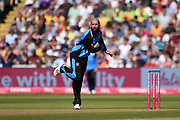 Moeen Ali of Worcestershire Rapids bowling during the Vitality T20 Finals Day 2019 match between Notts Outlaws and Worcestershire Rapids at Edgbaston, Birmingham, United Kingdom on 21 September 2019.