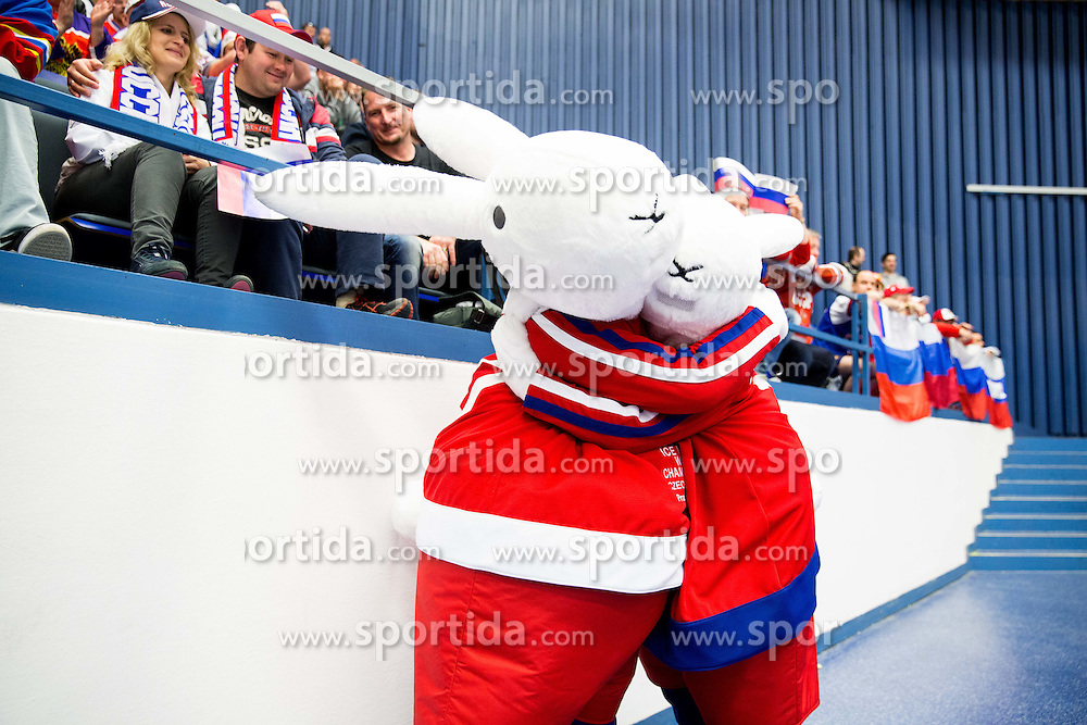 Official mascots Bob and Bobek during Ice Hockey match between Russia and Slovenia at Day 3 in Group B of 2015 IIHF World Championship, on May 3, 2015 in CEZ Arena, Ostrava, Czech Republic. Photo by Vid Ponikvar / Sportida