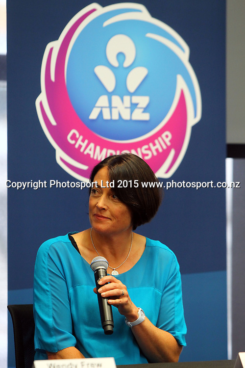Janine Southby coach Southern Steel. ANZ Championship netball season launch, ANZ Building, Auckland. Tuesday 17 February 2015. Copyright Photo: William Booth / www.photosport.co.nz
