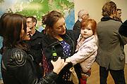 Sally O'Sullivan, Suzanne Bisset and Colette, Matthieu Laurette exhibition. Blow de la Barra, Heddon St. London 1 April 2006. ONE TIME USE ONLY - DO NOT ARCHIVE  © Copyright Photograph by Dafydd Jones 66 Stockwell Park Rd. London SW9 0DA Tel 020 7733 0108 www.dafjones.com