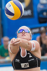 30.07.2014, Strandbad, Klagenfurt, AUT, FIVT, A1 Beachvolleyball Grand Slam 2014, Hauptrunde, im Bild Katharina Elisabeth Schützenhöfer (AUT) // during Main Draw Match of the A1 Beachvolleyball Grand Slam at the Strandbad Klagenfurt, Austria on 2014/07/30. EXPA Pictures © 2014, EXPA Pictures © 2014, PhotoCredit: EXPA/ Johann Groder
