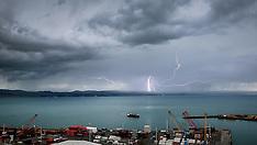 Napier-Lightning strike over Hawkes bay