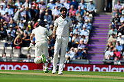 (Caption correction) Wicket - Ishant Sharma of India celebrates taking the wicket of Joe Root of England during the first day of the 4th SpecSavers International Test Match 2018 match between England and India at the Ageas Bowl, Southampton, United Kingdom on 30 August 2018.