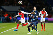 Paris Saint-Germain's French midfielder Blaise Matuidi vies during the French Cup, semi final football match between Paris Saint-Germain and AS Monaco on April 26, 2017 at Parc des Princes stadium in Paris, France - Photo Benjamin Cremel / ProSportsImages / DPPI