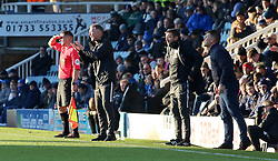Peterborough United Manager Darren Ferguson issues instructions from the touchline alongside Dover Athletic manager Andy Hessenthaler - Mandatory by-line: Joe Dent/JMP - 01/12/2019 - FOOTBALL - Weston Homes Stadium - Peterborough, England - Peterborough United v Dover Athletic - Emirates FA Cup second round