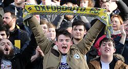Oxford Fans celebrate. - Mandatory byline: Alex James/JMP - 10/01/2016 - FOOTBALL - Kassam Stadium - Oxford, England - Oxford United v Swansea City - FA Cup Third Round