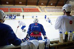 Players of U20 before first practice of Slovenian National Ice Hockey team before EIHC tournament in Innsbruck, on November 4, 2013 in Ledena dvorana Bled, Bled, Slovenia. (Photo by Matic Klansek Velej / Sportida.com)