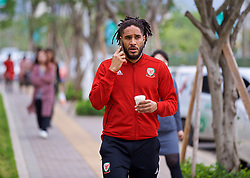 NANNING, CHINA - Monday, March 26, 2018: Wales' captain Ashley Williams during a team walk near the Wanda Realm Resort on day seven of the 2018 Gree China Cup International Football Championship ahead of the final against Uruguay. (Pic by David Rawcliffe/Propaganda)