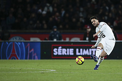 January 27, 2019 - Paris, Ile de France, France - Clement GRENIER (Stade Rennais Football Club), tir (Credit Image: © Panoramic via ZUMA Press)