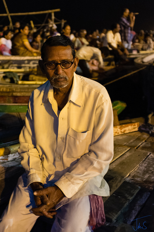 Varanasi Ghats at Night
