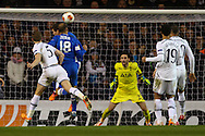 Roman Zozulya of Dnipro Dnipropetrovsk scores the opening goal during the UEFA Europa League match at White Hart Lane, London<br /> Picture by David Horn/Focus Images Ltd +44 7545 970036<br /> 27/02/2014