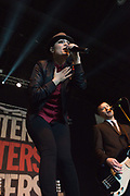 The Interrupters perform at Musink on March 17, 2018 at the OC Fair & Event Center in Costa Mesa, California (Photo: Charlie Steffens/Gnarlyfotos)