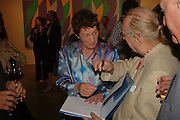 Bridget Riley,  Bridget Riley exhibition. Timothy Taylor Gallery. 6 June 2006. ONE TIME USE ONLY - DO NOT ARCHIVE  © Copyright Photograph by Dafydd Jones 66 Stockwell Park Rd. London SW9 0DA Tel 020 7733 0108 www.dafjones.com