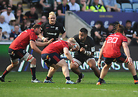 Rugby Union - 2018 / 2019 European Rugby Champions Cup - Semi-final - Saracens vs Munster<br /> <br /> Billy Vunipola of Saracens takes on the Munster defence At Allianz Park.<br /> <br /> Colorsport  / Andrew Cowie