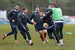 New Signing Gavin Henson of Bristol Rugby trains ahead of his First Team debut against Moseley on Sunday 15th February - Photo mandatory by-line: Rogan Thomson/JMP - 07966 386802 - 13/02/2015 - SPORT - RUGBY UNION - Bristol, England - Bristol Rugby Club Training Ground, Station Road, Henbury - Training Session.