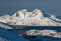 Kvalloya Sallir coastal landscape Norway