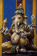 Sri Lanka..An up-country Ganesh at the end of a long line of steps leading down from a temple.