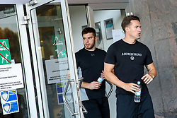 Enes Gorse and Anze Ropret during arrival of athletes of HK SZ Olimpija before Season 2019/20, on July 29, 2019 in Hala Tivoli, Ljubljana, Slovenia. Photo by Matic Klansek Velej / Sportida