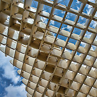 Grid of the top of Metropol Parasol structure, Seville, Spain