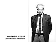 Paolo Flores d'Arcais, filosofo e direttore di Micromega.
