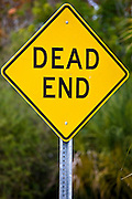 Dead End road sign on Anna Maria Island, Florida, United States of America