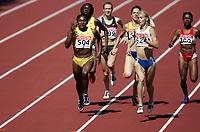 Friidrett, 6. august 2005, VM Helsinki, <br /> World Championship in Athletics<br /> Maria Mutola, MOZ, Jam 800 metres<br /> Larisa Chzhao, RUS (624)