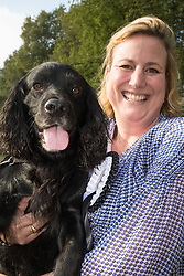 MPs and members of the House of Lords bring their pooches to Parliament as they compete to be crowned The Dogs' Trust and The Kennel Club's Westminster Dog Of The Year. PICTURED: Antoinette Sandwich MP (Eddisbury) and her working cocker spaniel Inca.