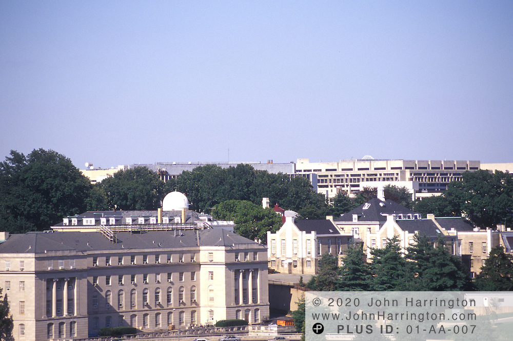 A secretive military base along the Potomac River on 23rd Street and Constitution Avenue.