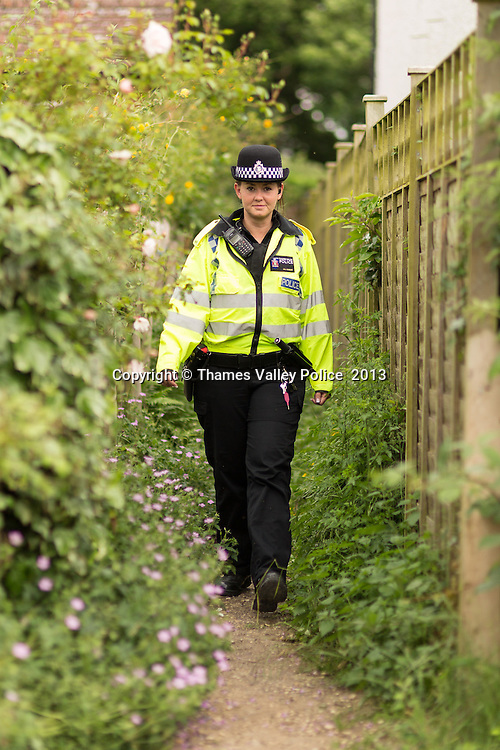 The West Berkshire Area of Thames Valley Police has worked in conjunction with partner agencies to launch an intensive five week operation in Mortimer.<br /> Operation Flammable has been set up to increase community engagement, allowing residents to get more actively involved in policing the local area. Response Officers will be out and about encouraging people to participate in crime reduction measures, informing them of how to report crime and intelligence to the police.<br /> A dedicated team has been deployed to support the neighbourhood team in Mortimer. The aim is to track offenders and secure convictions, through operations, execution of warrants, intelligence gathering and tackling anti-social behaviour. <br /> Insp Clare Knibbs said: &ldquo;We are holding several &lsquo;have you say meetings&rsquo; and conducting door to door survey&rsquo;s to assess the feelings of the community around crime and anti-social behaviour. We are planning to utilise this information to address any issues which the residents and people that work in Mortimer experience.<br /> &ldquo;We are actively posting on social media and I would urge residents to look us up to read about the work we are doing in the area. There have already been some fantastic results from our door to door knocks, from which we have gained intelligence and made some key arrests.<br /> &quot;The team will be out and out in fluorescent jackets; knocking on doors to speak to residents. Please feel free to approach your neighbourhood team and discuss any matters that affect your neighbourhood.&quot;Mortimer, Reading, UNITED KINGDOM. June 21 2013. <br /> Photo Credit: MDOC/Thames Valley Police<br /> &copy; Thames Valley Police 2013. All Rights Reserved. See instructions.