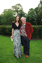 DAVID BAILEY and his wife CATHERINE at the Raisa Gorbachev Foundation Party held at Stud House, Hampton Court Palace on 5th June 2010.  The night is in aid of the Raisa Gorbachev Foundation, an international fund fighting child cancer.